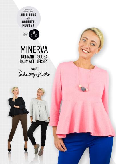 Papierschnittmuster Minerva Peplum Oberteil 32-54