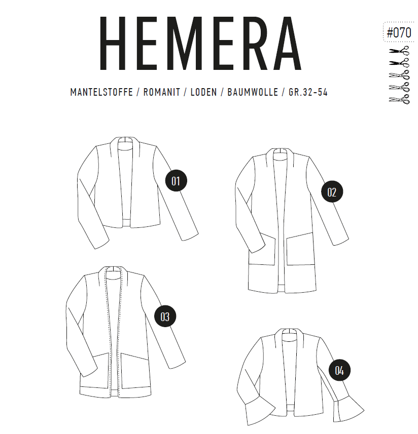 La Hemera Mantel/Blazer/Kurzjacke 32-54 Ebook
